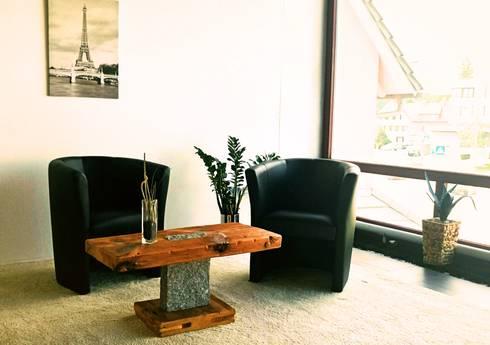 Couchtisch Granit - Designmöbel aus antikem Holz von woodesign ...