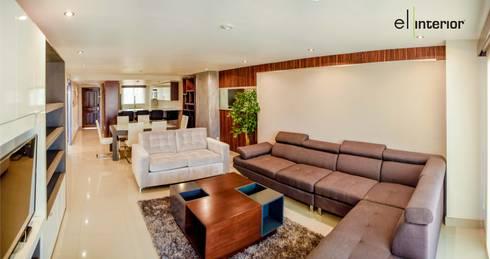 Departamento Quintas del Mar: Salas de estilo moderno por el interior