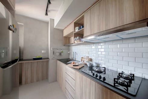 SKYTERRACE @ DAWSON: scandinavian Kitchen by Eightytwo Pte Ltd