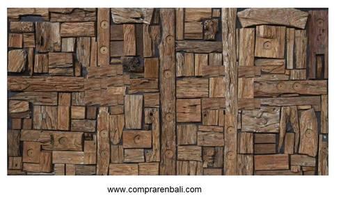 Mosaico de madera reciclada de ale debali study homify - Mosaico de madera ...