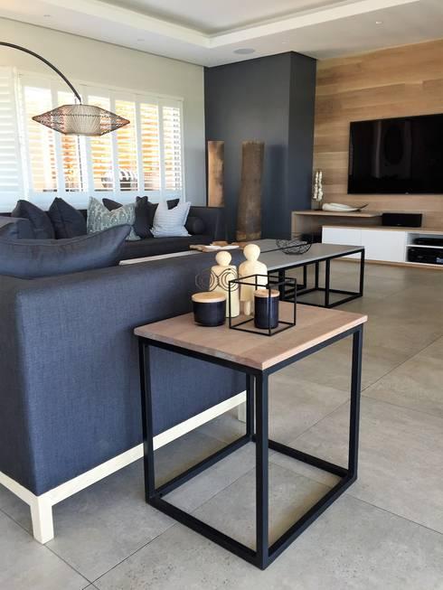 Simbithi Eco Estate: industrial Living room by Margaret Berichon Design