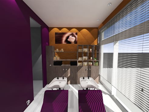 Aménagement d\'un salon de coiffure. par FP Design espace   homify