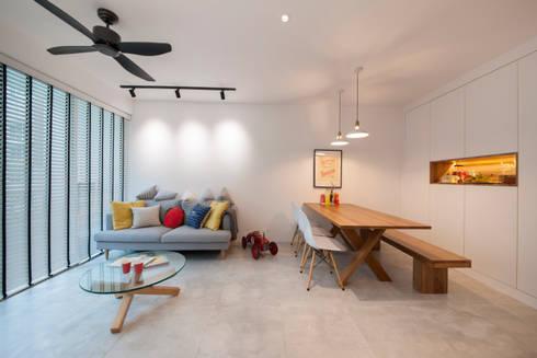 WATERCOLOURS: scandinavian Living room by Eightytwo Pte Ltd