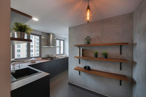 THE BELVEDERE: eclectic Kitchen by Eightytwo Pte Ltd