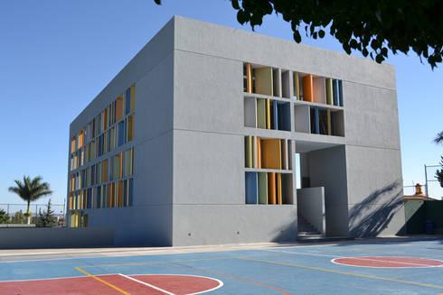 Biblioteca Kipling CECAT - VMArquitectos: Casas de estilo moderno por VMArquitectura
