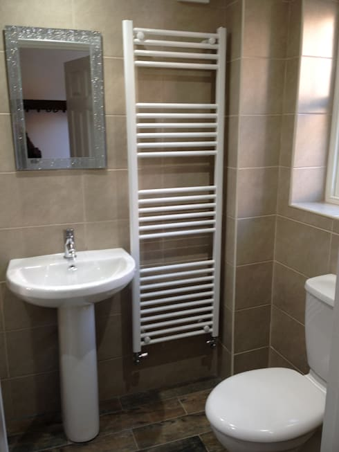 Shower room in chapel conversion:   by JMAD Architecture (previously known as Jenny McIntee Architectural Design)
