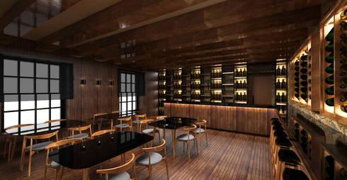 Wine Bar: Bares e clubes  por Atelier 12
