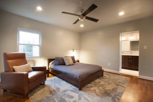 Master Bedroom ReDesign: modern Bedroom by RedBird ReDesign