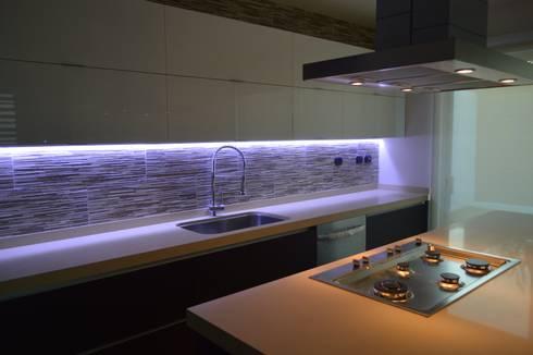 Lomas de Angelopolis, Borja Arquitectos: Cocinas de estilo moderno por Borja Arquitectos