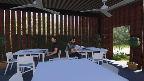 KU' TOH' CAFE: Comedores de estilo moderno por MUTAR Arquitectura