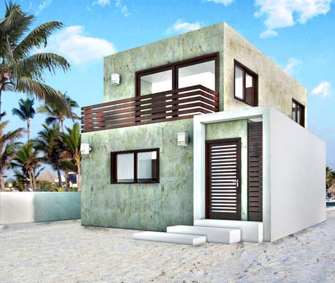CASA CH-1: Casas de estilo moderno por MUTAR Arquitectura