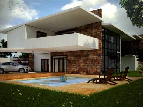 RESIDENCIA DB: Casas de estilo moderno por MUTAR Arquitectura