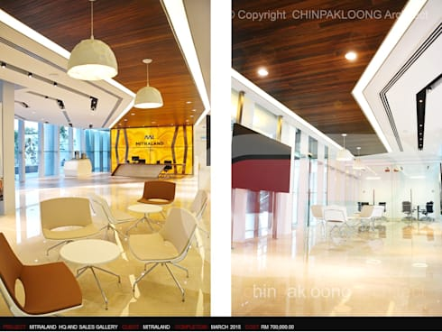 Mitraland HQ :  Commercial Spaces by CHINPAKLOONG Architect