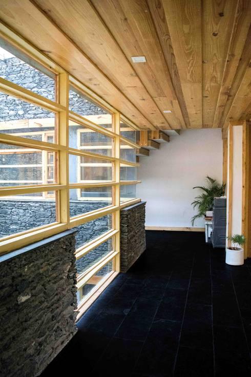 Manuj Agarwal Architects Residence cum Studio, Dehradun:  Walls by Manuj Agarwal Architects