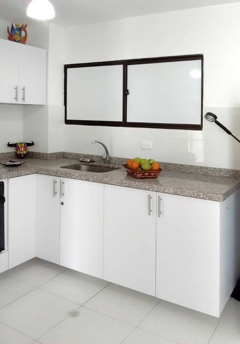 Área de lavado y despensa: Cocinas de estilo  por Remodelar Proyectos Integrales