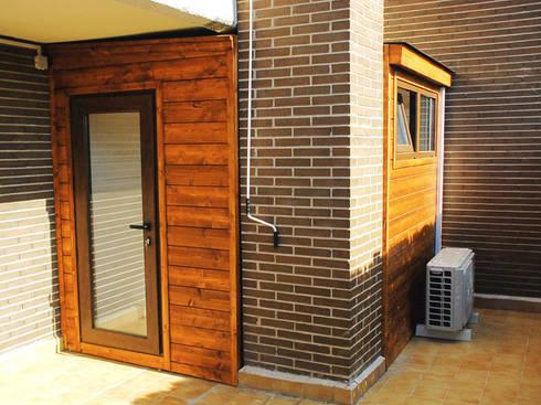 Casetas de madera balcones y terrazas de casetas de for Caseta madera terraza