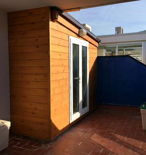 casetas de madera balcones y terrazas de casetas de