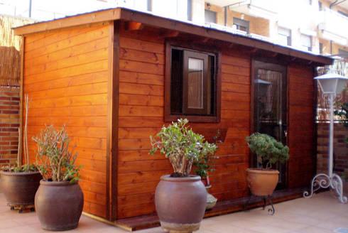 Casetas de madera balcones y terrazas by casetas de for Casetas de madera para jardin baratas