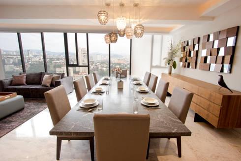 Departamento TG: Comedores de estilo moderno por Concepto Taller de Arquitectura