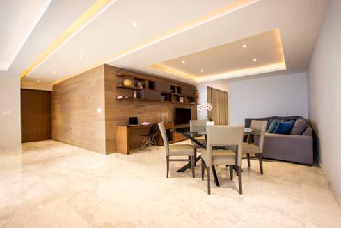 Departamento TG: Salas multimedia de estilo moderno por Concepto Taller de Arquitectura