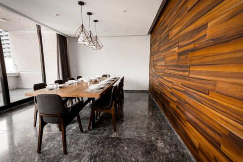 Departamento ML: Comedores de estilo moderno por Concepto Taller de Arquitectura