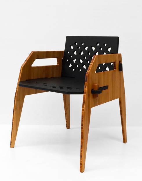 Silla MayoCinco: Comedor de estilo  por Wedgewood Furniture