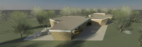 Restaurante e Bar - exterior 6: Espaços de restauração  por Atelier 12