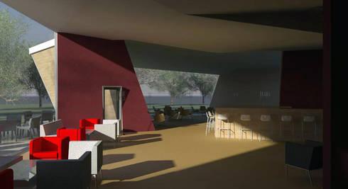 Restaurante e Bar - interior 1: Espaços de restauração  por Atelier 12