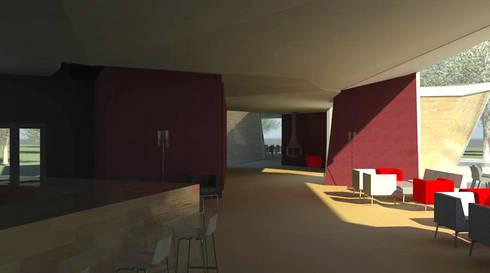 Restaurante e Bar - interior 2: Espaços de restauração  por Atelier 12