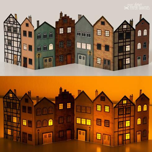 Living At Home Adventskalender windlicht häuserblock by miss s paper oddities homify