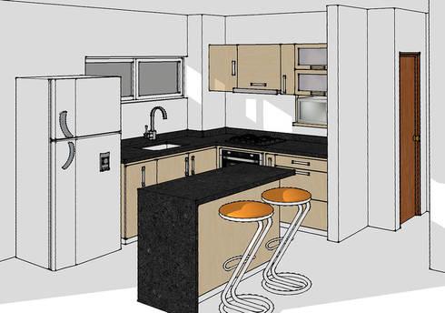 Lo primero un render de tu cocina de remodelar proyectos for Remodelar cocina integral