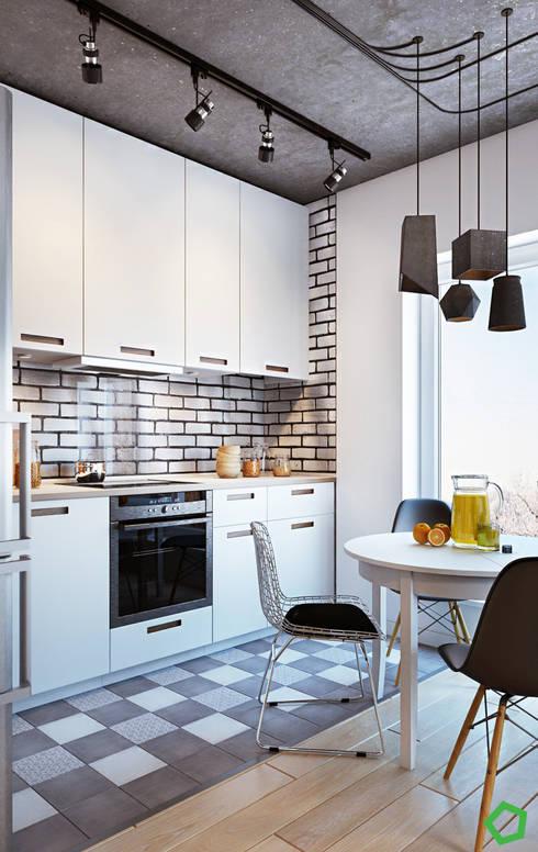 Loft 71: Кухни в . Автор – Polygon arch&des