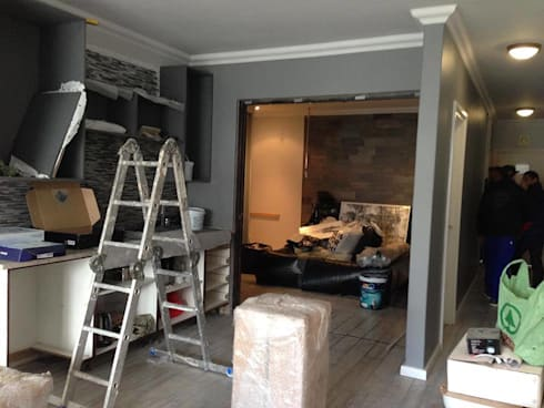 Gallery / Work in Progress: modern Living room by DRIFTWOOD INTERIORS & EXTERIORS