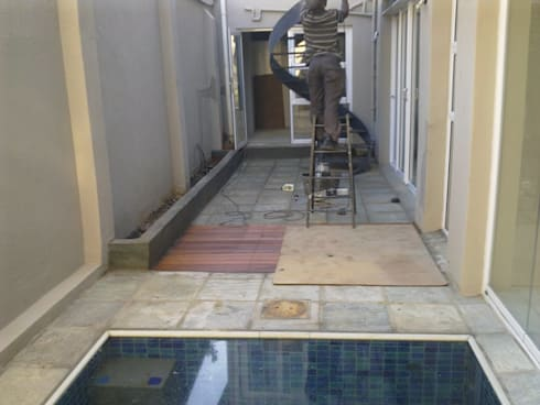 Gallery / Work in Progress: modern Pool by DRIFTWOOD INTERIORS & EXTERIORS