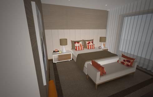Suite : Quartos modernos por Areabranca