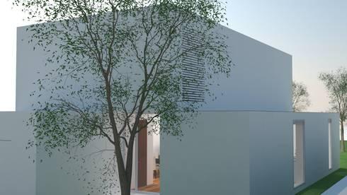 Vista Nascente: Casas modernas por ANSCAM