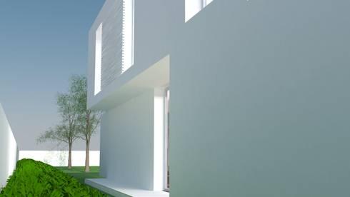 Vista Sul: Casas modernas por ANSCAM
