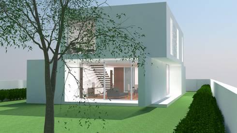 Vista Poente/Sul: Casas modernas por ANSCAM