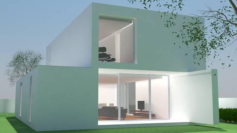Vista Poente: Casas modernas por ANSCAM