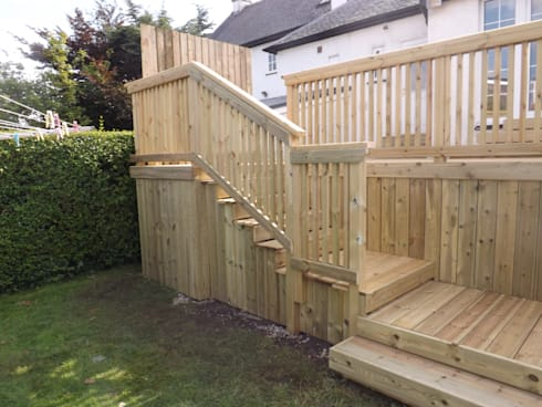 High level garden decking project by bradshaw contracts for Garden decking projects