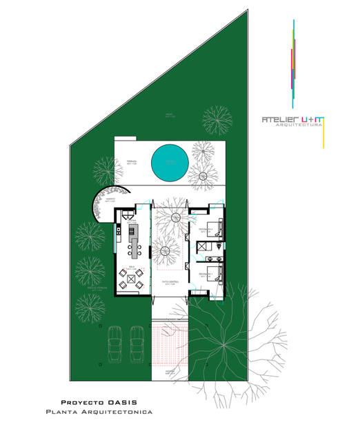 PO1: Casas de estilo minimalista por Atelier U + M