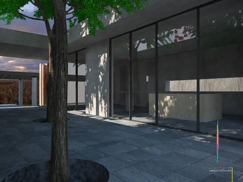 PO3: Casas de estilo minimalista por Atelier U + M
