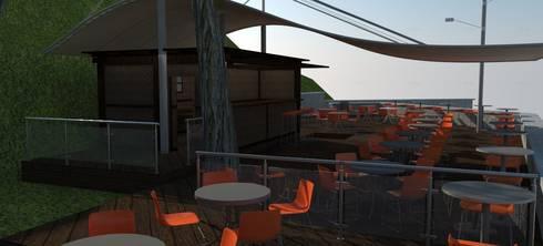 Cafe Bistro: Comedores de estilo moderno por Atahualpa 3D