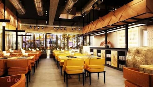 Beer brewery and kitchen:  Bars & clubs by Akaar architects