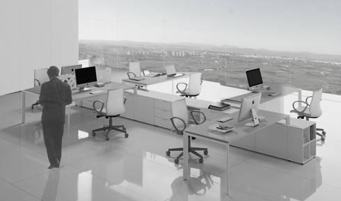 Edificio UTOPIA: Escritórios  por Raul Garcia Studio