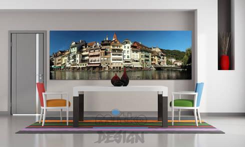 4 glasbilder im esszimmer von mitko design homify. Black Bedroom Furniture Sets. Home Design Ideas