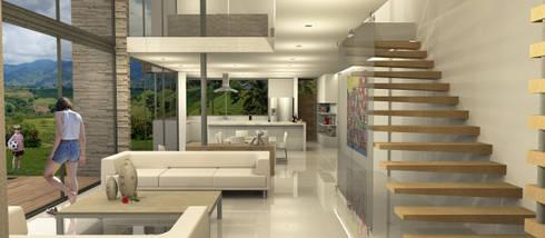 Casa Dapa LM: Salas de estilo moderno por COLECTIVO CREATIVO