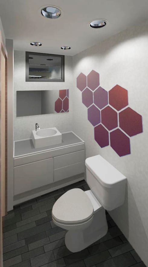 Edifico Versalles: Baños de estilo moderno por COLECTIVO CREATIVO