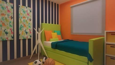 Habitaciones para niños y bebes: Recámaras infantiles de estilo moderno por Roccó