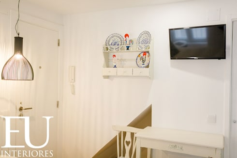 APARTAMENTO TURÍSTICO BAIRRO ALTO II – LISBOA: Cozinhas rústicas por EU INTERIORES